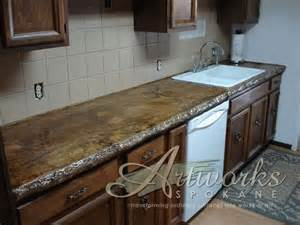poured in place concrete countertop creative countertops