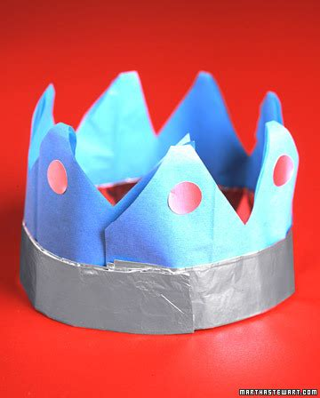 Paper Crown Craft - sushi and kid craft foil and paper crowns