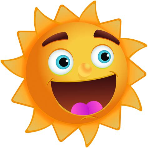 happy sun clip image with great big smile kootation