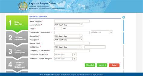 cara buat paspor online yogyakarta cara membuat paspor secara online paspor kilat