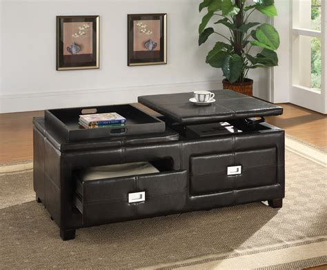 ottoman with built in tray awesome ottoman with tray and storage house plan and ottoman