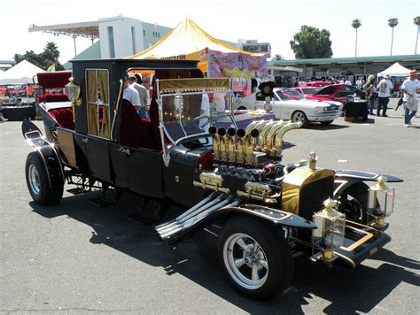 Munster Car Just A Car A Recreation Of The Munster S Coach Was Brought To The La Roadster Show By