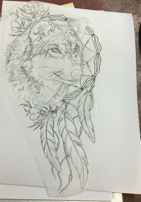 wolf dreamcatcher tattoo designs 802 best images about tattoos on