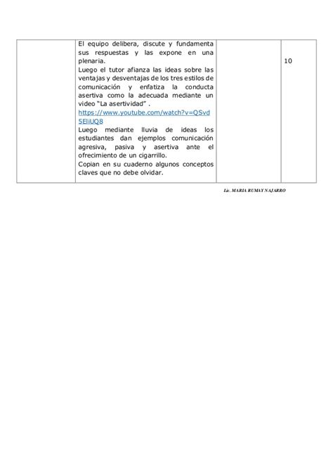 sesion de tutoria la asertividad documents sesion 1 la asertividad frente la consumo de tabaco