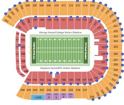 of stadium seating capacity tcf bank stadium tickets in minneapolis minnesota tcf