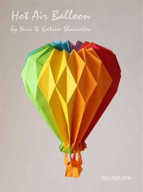 How To Make Paper Air Balloon - best 25 origami balloon ideas on balloon