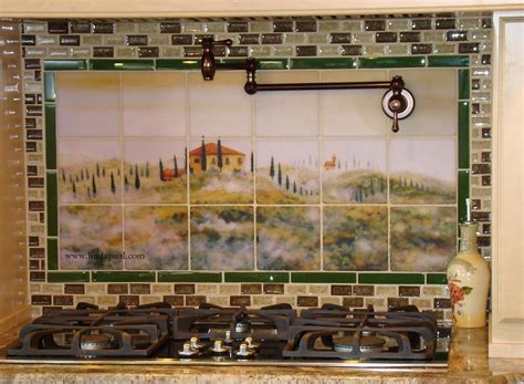 kitchen on kitchen backsplash colorful