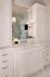 White Bathroom Cabinet Interior Design Ideas Home Bunch Interior Design Ideas