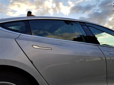 tesla model 3 door handles tesla model 3 spotted supercharging midway between sf and la