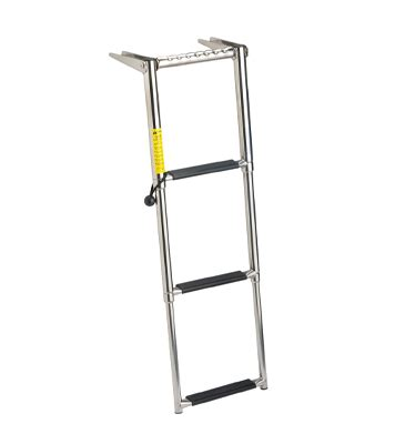 boat ladder bungee garelick over platform telescoping ladder