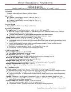 resume sles chemistry resume sle chemistry