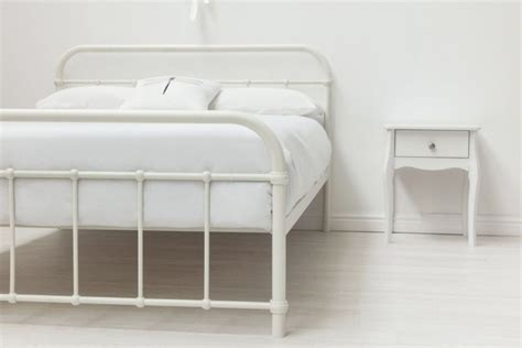 sleep design henley 5ft kingsize white metal bed frame by sleep design