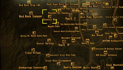 new vegas map chance s map the fallout wiki fallout new vegas and more