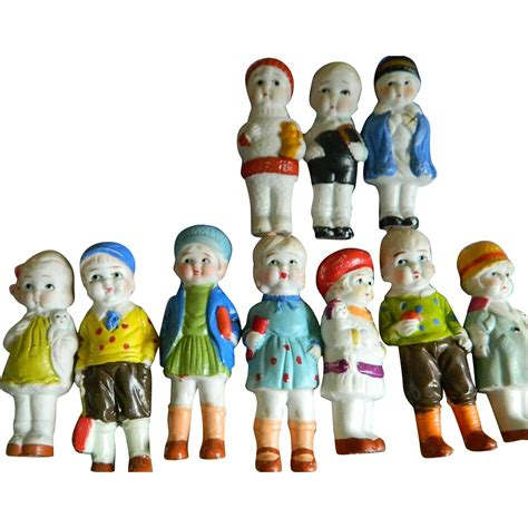 bisque doll made in japan set of 10 bisque dolls made in japan 1930 1940 s
