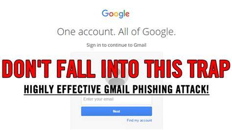 phishing attacks advanced attack techniques books alert this gmail phishing attack is so real it can even