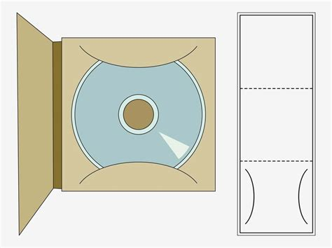 foldable cd sleeve template cd template