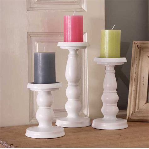 White Candle Holder Set by White Iron Metal Cylinder Candle Holder Set Pillar Candle