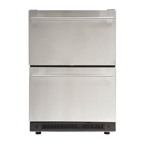 Undercounter Drawer by Haier 3 0 Cu Ft Undercounter Dual Drawer Refrigerator In