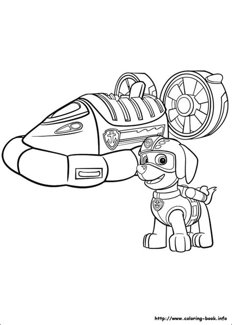 coloring pages paw patrol zuma paw patrol coloring picture colouring kids pinterest