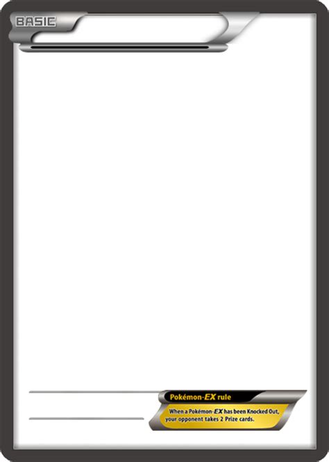 ex card template bw ex white card blank template by the ketchi on