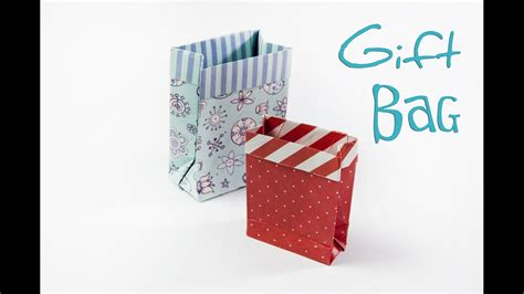 How To Make A Small Paper Gift Bag - how to make an origami gift bag diy paper mini gift bag