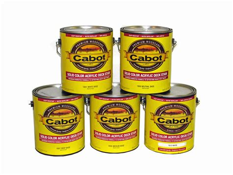 cabot solid color acrylic deck stain  series