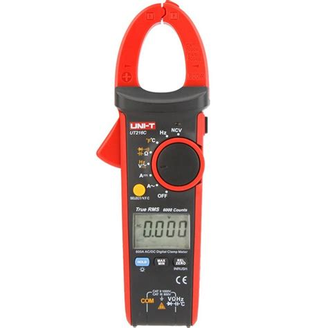 Digital Cl Meter 600a uni t ut216c 600a true rms digital cl meter multimeter auto range with frequency capacitance
