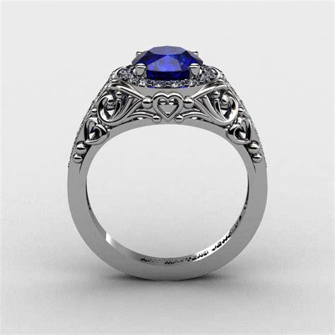 Italienische Trauringe by Italian 950 Platinum 1 0 Ct Blue Sapphire