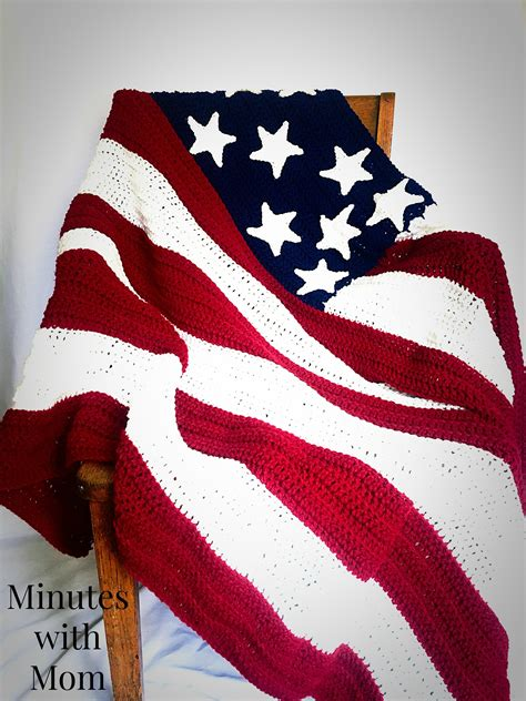American Blanket Designs america flag crochet blanket with free pattern