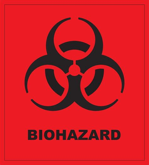 printable biohazard label biohazard symbol and text black on red universal