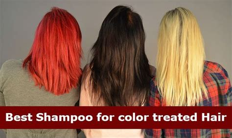 best products for color treated hair best shoo for color treated hair