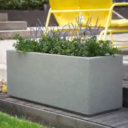 poly milan trough 4 ft outdoor planter