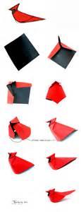 Origami Cardinal - northern cardinal origami by giang dinh giang dinh