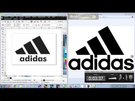 tutorial logo adidas coreldraw como hacer el logo de adidas en corel youtube