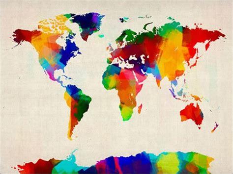 rolled paint map of the world map art print jpg 500 215 375 espacio