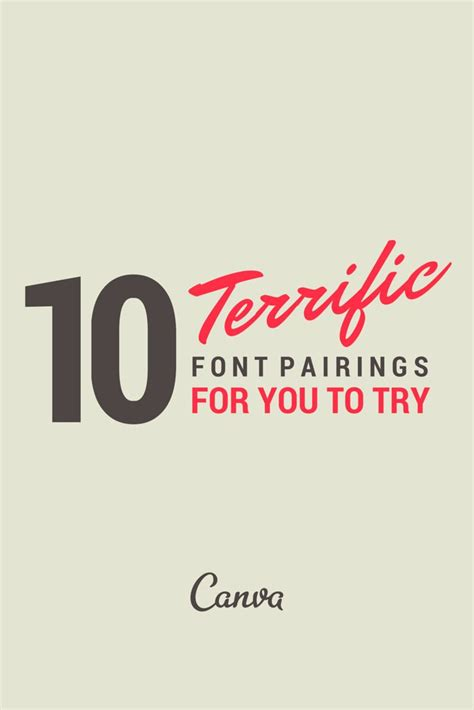 canva font pairing 1000 images about fonts on pinterest typography