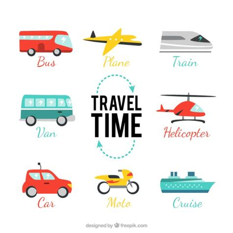 Travel Time travel time pack vector free