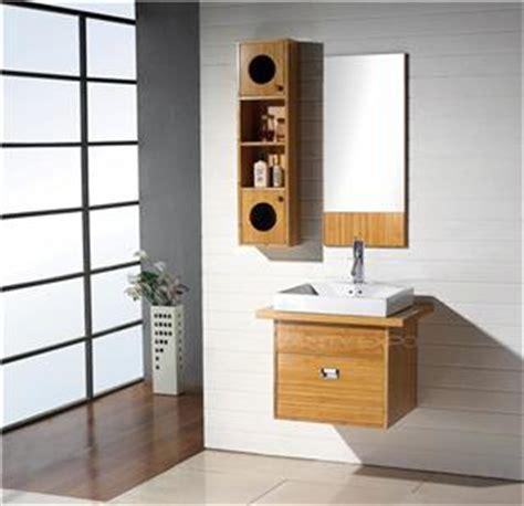 bamboo bathroom wall cabinet wall mount bamboo bathroom vanity cabinet set fh bm04 ebay