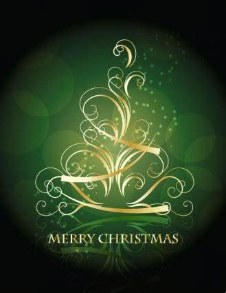 golden swirling christmas tree background vector ai svg eps vector