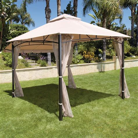 Walmart Gazebo Mainstays Landsdowne Heights Double Shelf Patio Gazebo Walmart