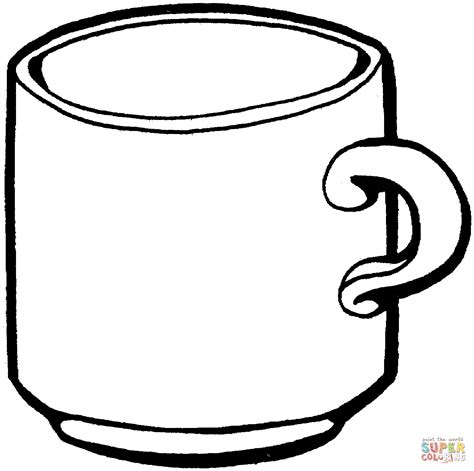 color cop tea cup coloring page free printable coloring pages