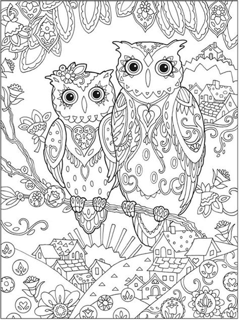 owl doodle coloring page printable coloring pages for adults 15 free designs