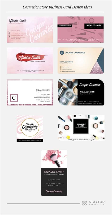 open source card template how to start your own cosmetics business startup jungle
