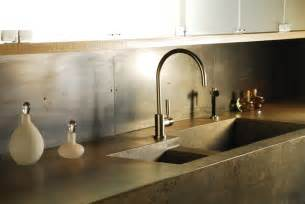 concrete kitchen countertops with integrated sink modern kitchen countertops new york by