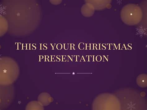 christmas theme google slides free presentation template starry night christmas design