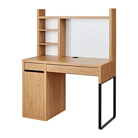 Oak Effect Corner Desk Micke Workstation Oak Effect 105x50 Cm Ikea