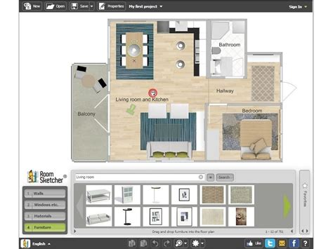 room floor plan designer interior design roomsketcher