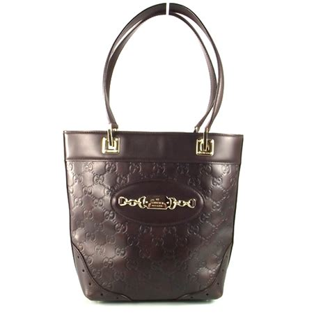 Gucci Big Punch Tote by Gucci Guccissima Punch Tote Chocolate 14918