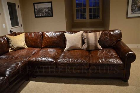 big leather couch michael s langston leather sectional sofa the leather