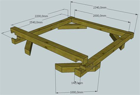 bauplan bettgestell bett aus brettschichtholz bauen teil 1 das bettgestell